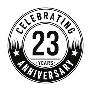 23rd anniversary 300x300